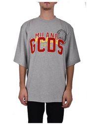 Gcds Nascar Crew Neck T-shirt - Grijs