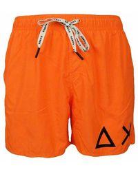 Sun 68 Costume Da Bagno Boxer Con Logo Su Gamba - Oranje