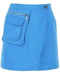 Marine Serre Skirt - Blauw