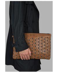 Jimmy Choo Derek clutch bag Marrón