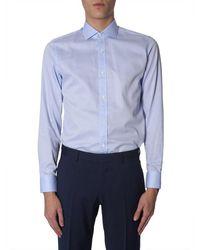 Z Zegna Slim Fit Shirt - Blauw