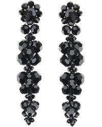 Simone Rocha Earrings With Crystals - Zwart