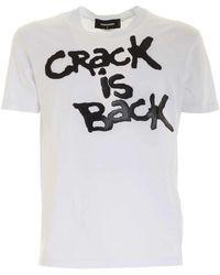 DSquared² T-shirt S71gd0977s22427 100 - Wit