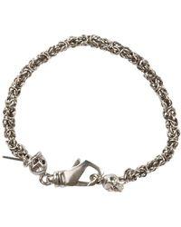 Emanuele Bicocchi Tiny Skull Bracelet - Grijs