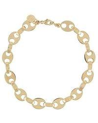 Paco Rabanne Chain Necklace In Brass - Geel