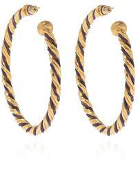 Gas Bijoux 'torride' Hoop Earrings - Naturel