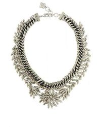 BCBGMAXAZRIA Leaf Necklace - Jaune