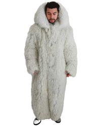 Dolce & Gabbana Chaqueta de abrigo de piel de oveja Blanco