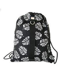 Dolce & Gabbana Palm Leaves Adjustable Drawstring Nap Sack Bag - Zwart