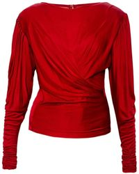 Isabel Marant Top With Gathers - Rood