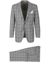 Kiton Cashmere And Wool Suit - Grijs