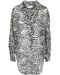 Saint Laurent Tigred Gauze Shirt - Zwart