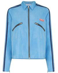 adidas Zip Shirt - Blauw