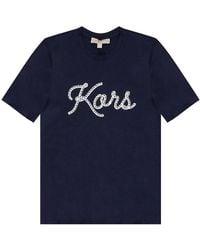 Michael Kors T-shirt con logo - Blu