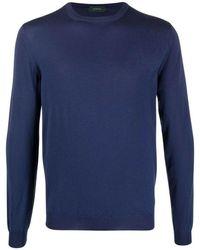 Zanone Sweater - Blauw