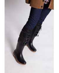 DSquared² Dook rain boots with patches Negro