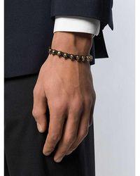 Alexander McQueen Skull Friendship Bracelet Negro