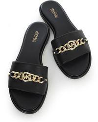 Michael Kors Rina Slide Shoes - Noir