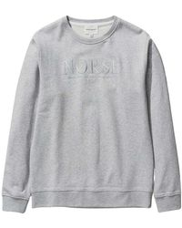 Norse Projects Vagn Sweatshirt With Logo - Grijs