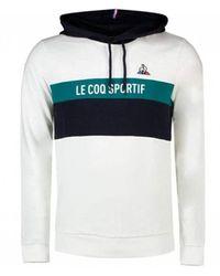 Le Coq Sportif Saison 2 Hoody Sweatshirt No1 M 2020512 - Wit