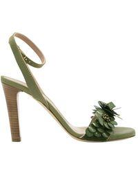 Maliparmi Sandalo con tacco flower - Vert