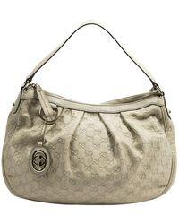 Gucci Gebrauchte mittelgroße Sukey Hobo-Tasche - Natur