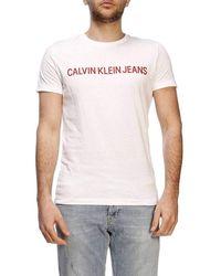 Calvin Klein Short Sleeve T-shirt - Wit