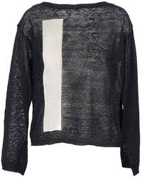Manila Grace Linen wo sweater - Noir