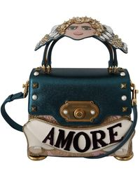 Dolce & Gabbana Crossbody Welkom Purse - Blauw