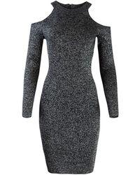 Michael Kors Glitter Cold Shoulder Dress - Gris