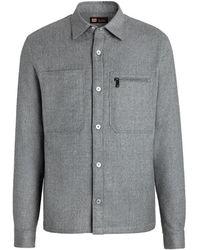 Z Zegna Grey Overshirt - Grijs