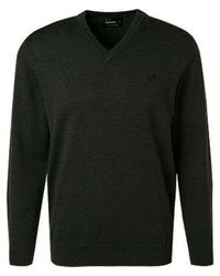Fred Perry Classic V Neck Jumper K4500 371 - Groen