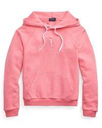 Polo Ralph Lauren Logo Embroidery Sweatshirt - Roze
