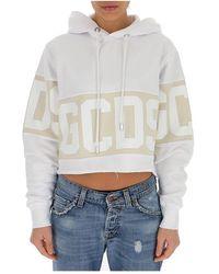 Gcds - Logo-print hoodie - Lyst