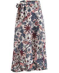 Scotch & Soda - Midi Allover Printed Wrap Skirt - Lyst
