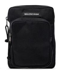 Balenciaga 'explorer Shoulder Bag With Logo - Zwart