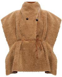 Isabel Marant Leather Poncho - Bruin