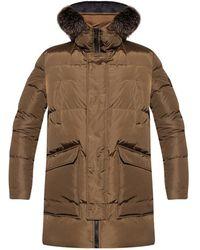 Yves Salomon Down Jacket With Fox Fur - Bruin