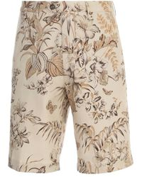 Etro Flat Front Shorts - Wit