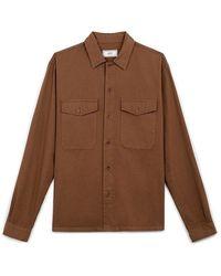 AMI Camp Collar Overshirt - Bruin