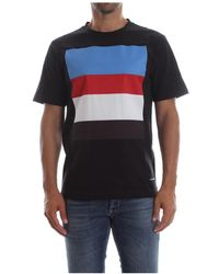 Calvin Klein J30J307859 Sateen Multi Stripe T Shirt AND Tank Men Black - Nero