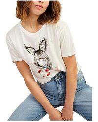 Naf Naf Camiseta Ilustración - Wit
