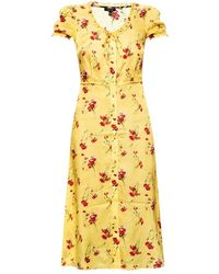 R13 - Floral-printed silk dress - Lyst