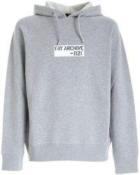 Fay Logo Patch Sweatshirt - Gris