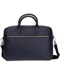 Emporio Armani Briefcase Attaché Case Laptop Pc Bag - Blauw