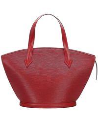 Louis Vuitton Epi Saint Jacques PM Bracelet Courte Cuir - Rouge