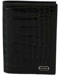 Dolce & Gabbana Bifold Paspoorthouder - Zwart