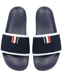 Thom Browne Sponge Slide Sandals Azul