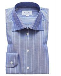 Eton Slim fit shirt - Blau