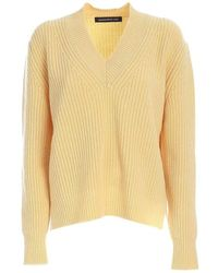 Department 5 V Neck Sweater - Jaune
